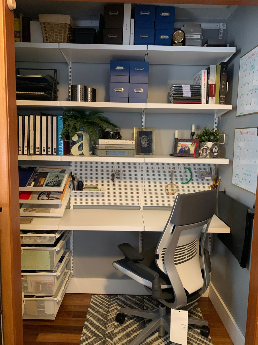 Storage is a huge part of my home office-whether filing or binders or books.